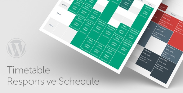 Timetable Responsive Schedule v3.8 For WordPress
