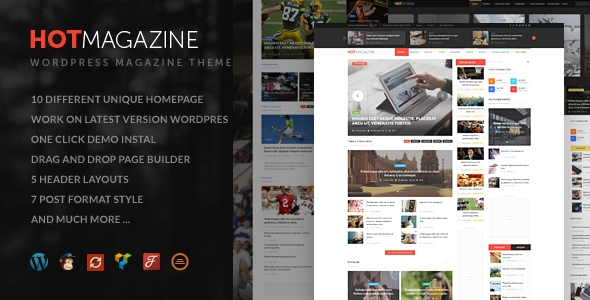 Hotmagazine v2.2.0 – News & Magazine WordPress Theme