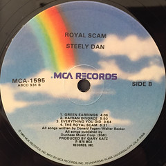 STEELY DAN:THE ROYAL SCAM(LABEL SIDE-B)