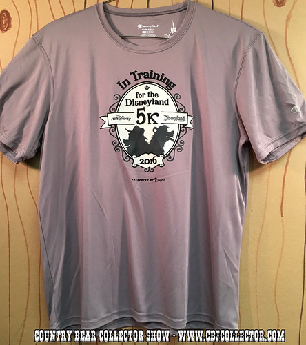 2016 Run Disney Disneyland 5k Training Shirt - Country Bear Jamboree Collector Show #040