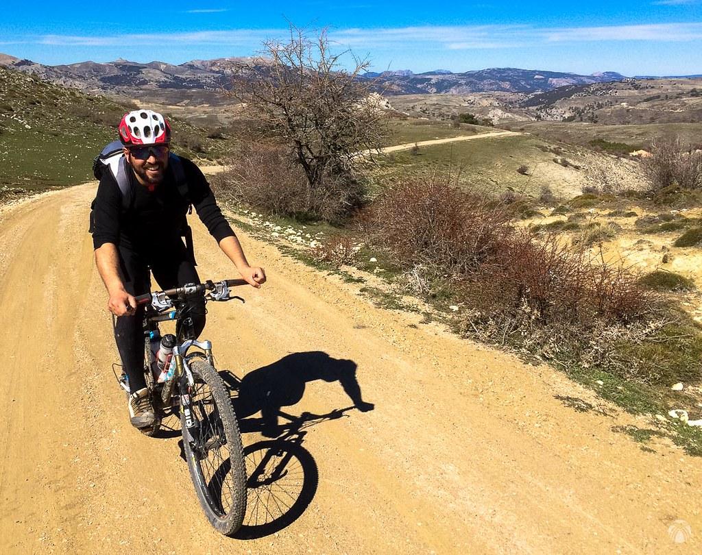 Remontando hacia Cañada Lamienta