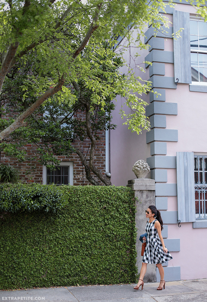 gingham flare dress charleston south carolina houses