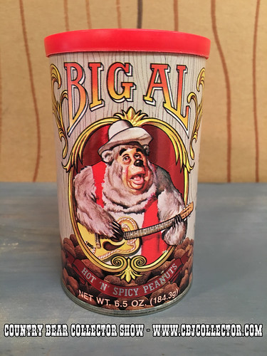 Vintage 1985 Disney Parks Big Al Hot & Spicy Peanuts Can - Country Bear Jamboree Collector Show #045