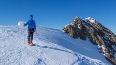 Wspinaczką grania na szczyt Weisskugel 3739m. Tomasz
