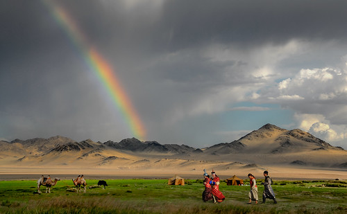 sky cloud festival rainbow outdoor mongolia mn mongolei naadam khovd serienaadam chowdaimag
