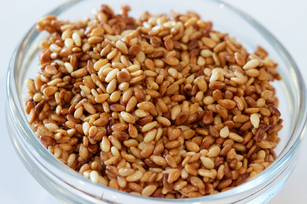 Toasted Sesame Seeds in a Bowl