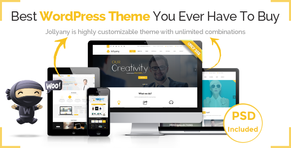 Themeforest Jollyany v1.1.9 - Corporate Multi Purpose WordPress Theme
