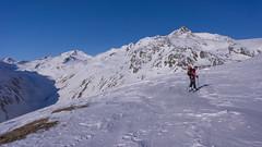 Podejscie z schroniska Hochjoch Hospiz 2370 m w kierunku lodowca Kesselwandferner