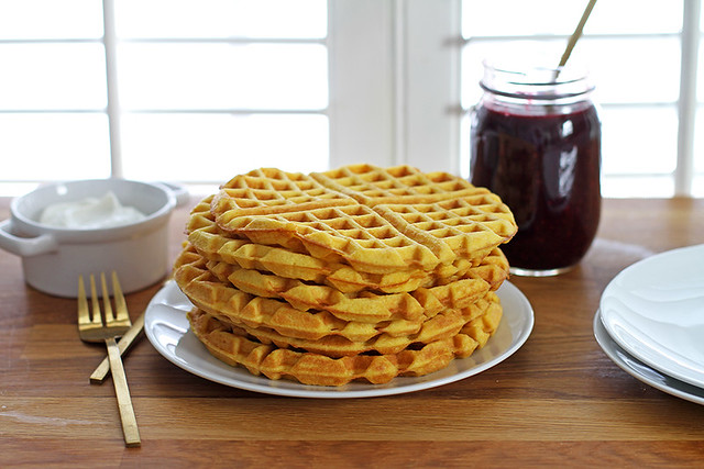 Fluffy Coconut Flour Waffles | girlversusdough.com @girlversusdough