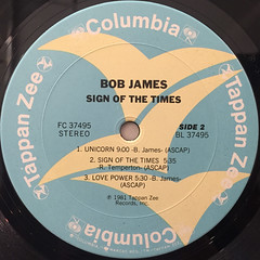 BOB JAMES:SIGN OF THE TIMES(LABEL SIDE-B)