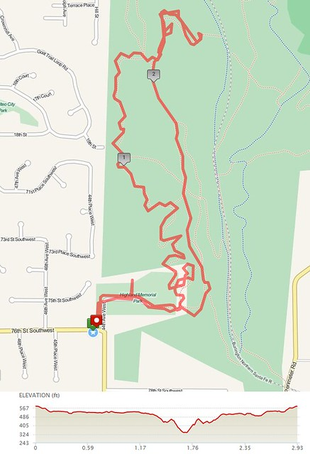 "Today""s awesome walk, 2.93 miles in 1:02, 6,308 steps, 196ft gain"