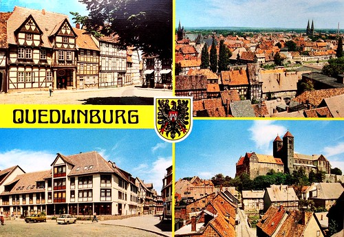 Quedlimburg postcard - Germany