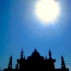 Dzuhur Time | Waktu Dzuhur #time #mosque #blue #bluesky #siloeut #black #blackmosque