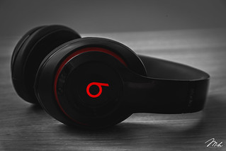Black Headphone Beats by Dre Studio