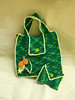 Stylish green crochet handbag for women with free matching coin purse ready to ship