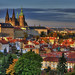 Prague Castle Autumn Sunset