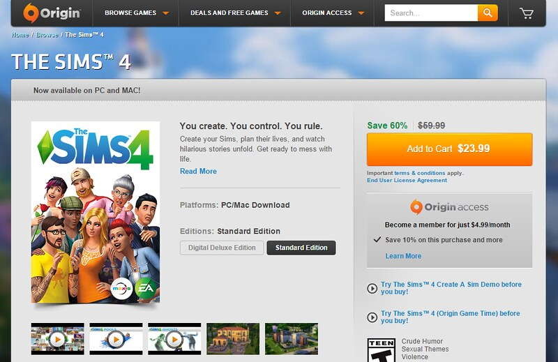 how to connect sims 4 to origin