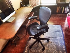 Ahhhh... Totally digging and grateful for my greatly needed new work chair. Super stoked. Muchas gracias Craig's List!