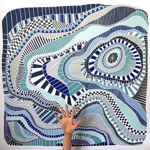 Shades of Blue Paper Mosaic