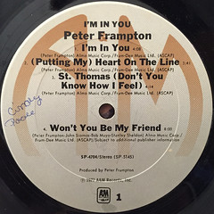 PETER FRAMPTON:I'M IN YOU(LABEL SIDE-A)
