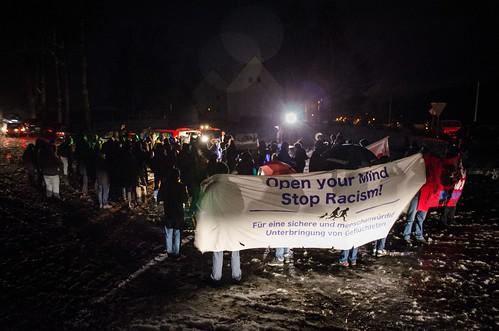 20.02.2016 - Clausnitz (Sachsen) Solidaritätskundgebung Kundgebung für Geflüchtete