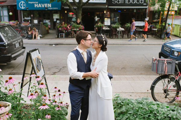 Celine Kim Photography KM Intimate restaurant Cluny Bistro Distillery District Toronto summer wedding-17