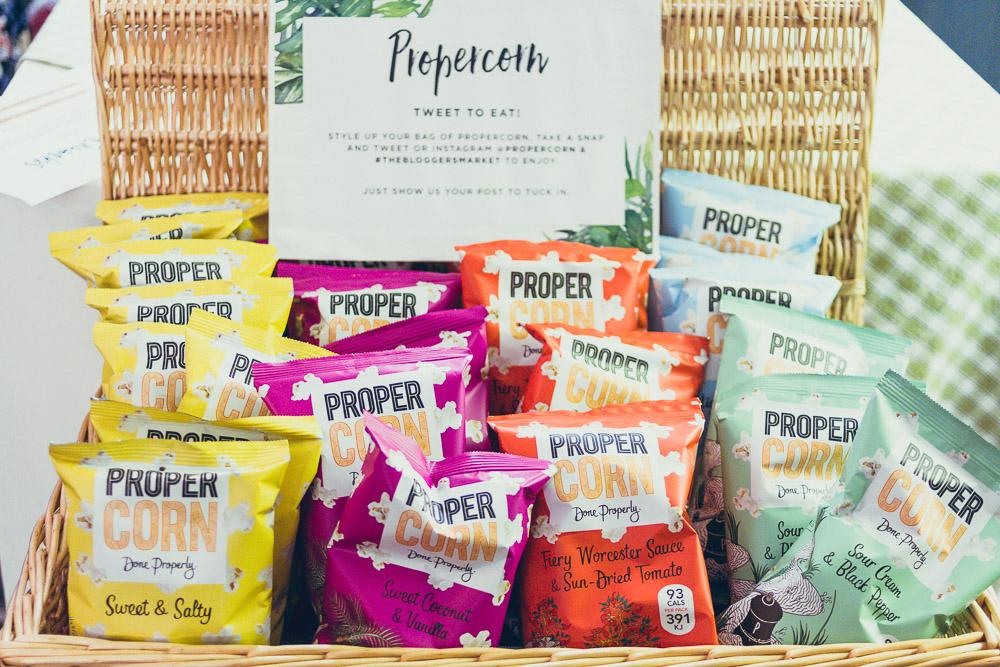 #TheBloggersMarket propercorn in basket