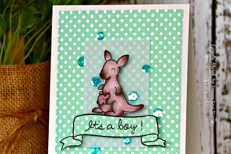 It's a boy card closeup