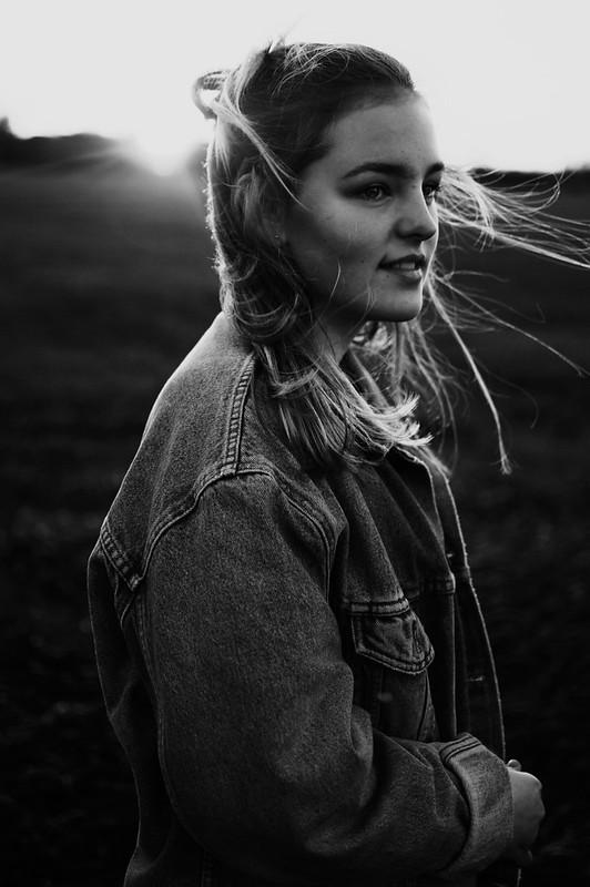 Portrait Mädchen Sommer Sonne
