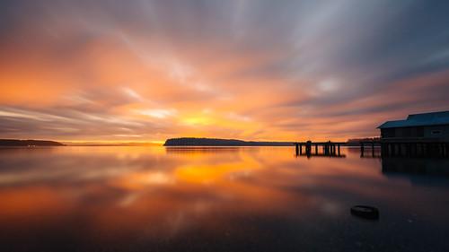 longexposure sunrise water clouds colorful reflection nature sky canoneos5dmarkiii canonef1635mmf4lis bwnd1000x pacificnorthwest johnwestrock washington
