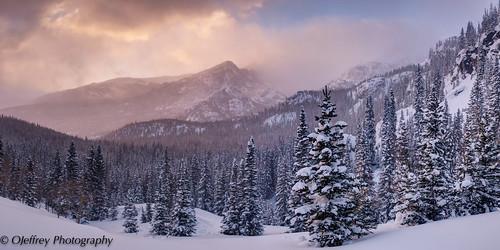 winter panorama snow sunrise spring colorado pano co rmnp rockymountainnationalpark springtime coloradorockymountains ojeffrey ojeffreyphotography