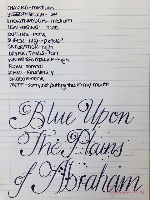 Ink Shot Review Noodler's Blue Upon The Plains of Abraham @CarolLuxury (8)