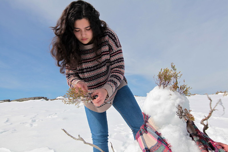 A neve faz as pessoas felizes
