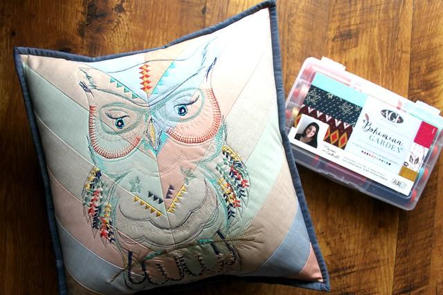Aurifil Stitched Owl