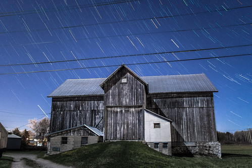 Barn star trails
