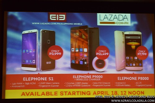 Elephone smartphones in the PH via Lazada