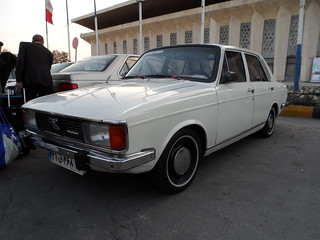 The Khodro Peykan.  Otherwise known as the Iranian Chariot.  Modelled from the Hillman Hunter Under license it ceased  manufacture in the late 1990's.  We loved them and some of these puppies are P.I.M.P.