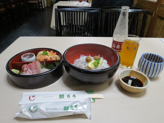 Lunch in Kii-Tanabe at Ginchiro Eki Mae