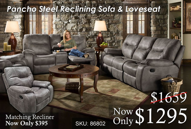 Pancho Steel Reclining Set