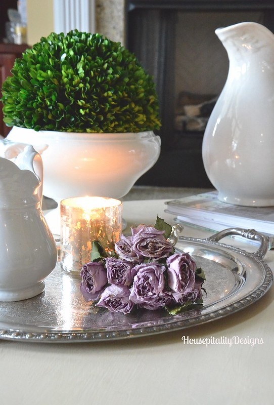 Dried Lavender Roses Vignette - Housepitality Designs