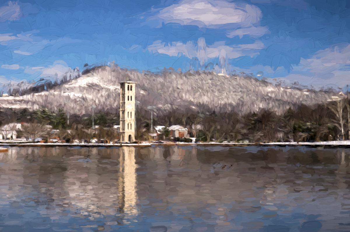 """Furman Lake in Winter (""""Cesanne"""")"""