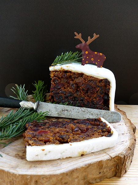 christmas cake sur fond noir