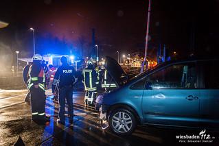 S-Bahn erfasst Pkw, Bf Eppstein, 02.01.16
