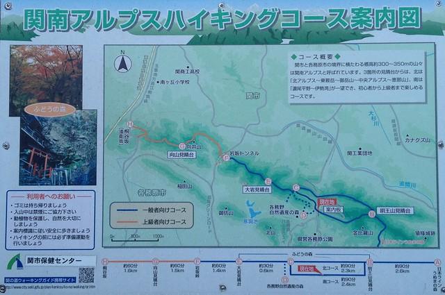 関南アルプスハイキングコース案内図