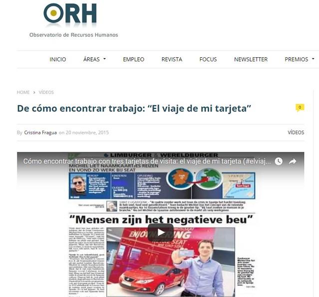 Artículo en web - Observatorio Recursos Humanos (20.11.2015) - castellano