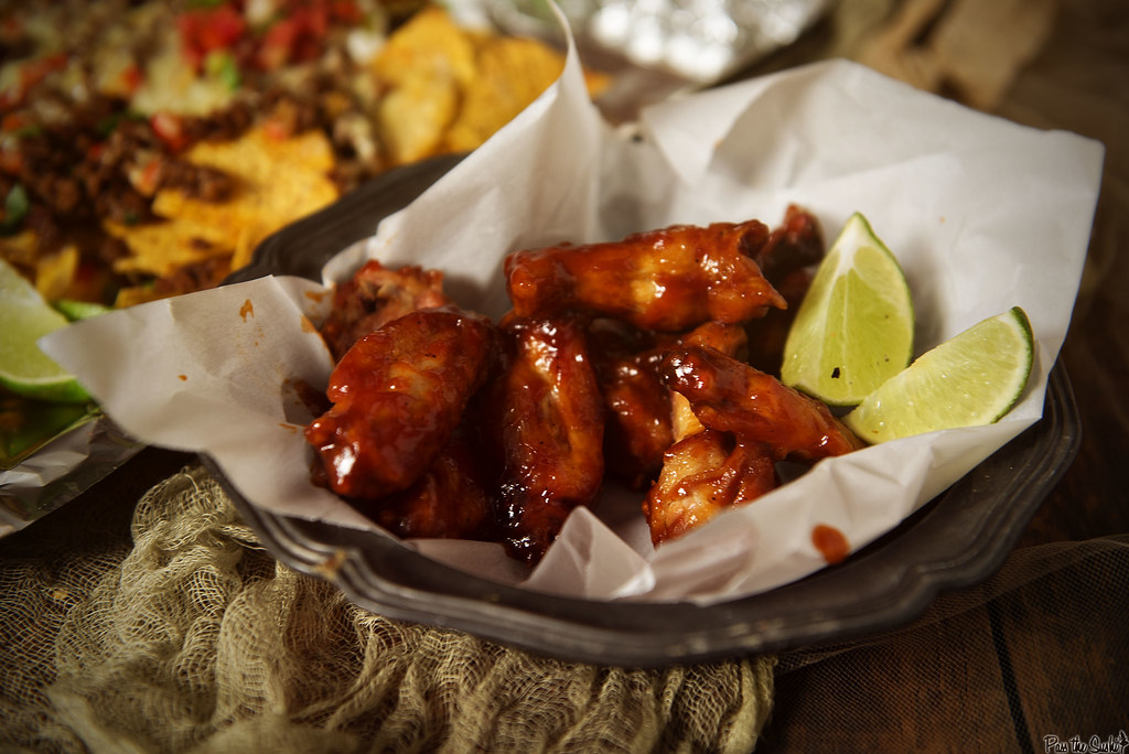 Sriracha & Bourbon Chicken Wings Recipe | GirlCarnivore.com