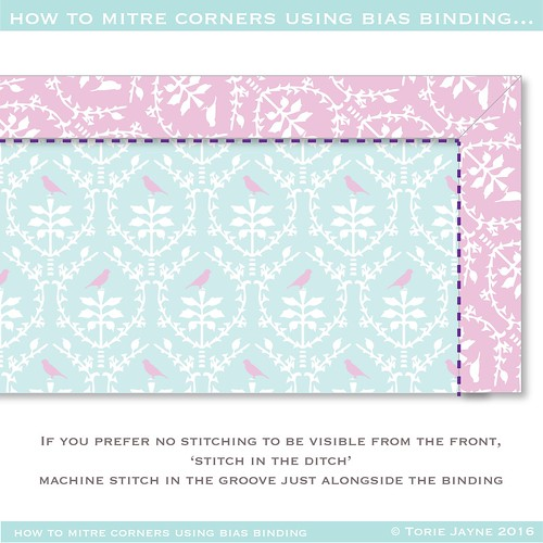 how to mitre binding corners 10-01