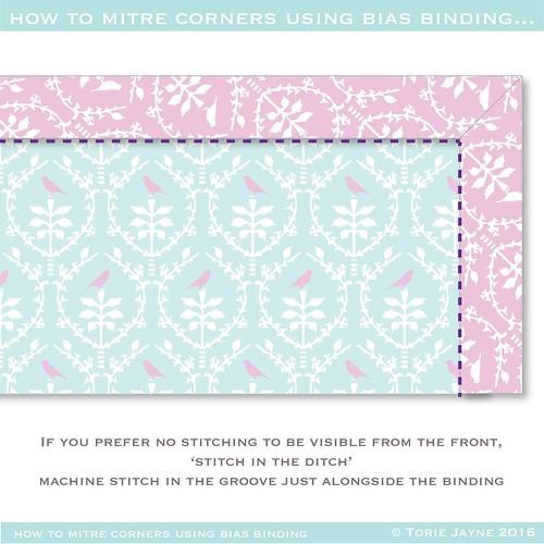how to mitre binding corners 10-01