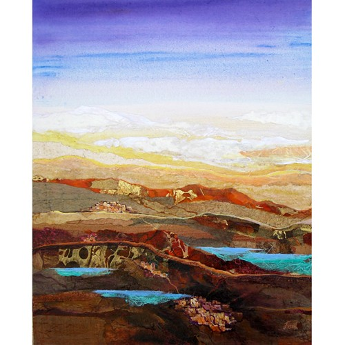 Arizona Reflections Mixed Media Painting by Donald Trout