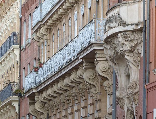 étonnante façade